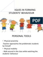 techniques in forming students behaviour