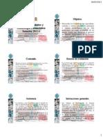 Asuntos Regulatorios y Deontología Farmacéutica 2013-I