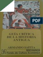 Guía Crítica de La Historia Antigua- Armando Saitta