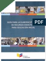 Guia Elaboracion y Uso Recursos Didacticos Ed Ini 021013