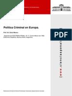 Politica Criminal en Europa