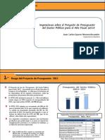 Análisis presupuesto 2015