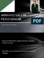Armand Vallin Feigenbaum Biografia