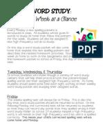 Word Study Program at a Glance