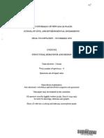 CVEN3302 - Final Examination 2009