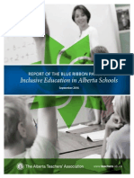 Report of the Blue Ribbon Panel on Inclusive Education in Alberta Schools.