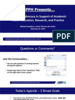 ASPPH Policy and Advocacy