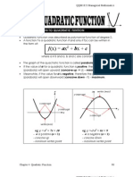 (chapter 3) quadratic function