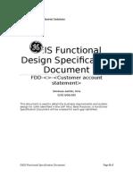FDD Customer Account Statement