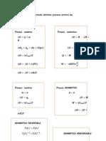 Formulas Distintos Procesos Primera Ley