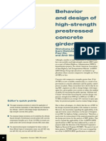 Behavior and Design of High-Strength Prestressed Concrete Girders