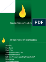 Properties of Lubricant