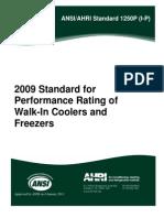 Ansi.ahri Standard 1250 (I-p)-2009