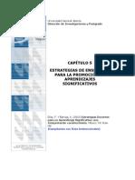 Capitilo 5 Estrategias de Enseñanza Para La Promocion de Aprendeizajes Significativos