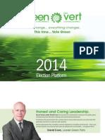 Platform Green Party 2014 NB