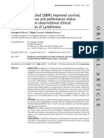 The Di Bella Method (DBM) Improved Survival, Objective Response and Performance Status in a Retrospective Observational Clinical Study on 55 Cases of Lymphomas