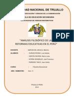 Análisis Filosófico de Las Reformas Educativas en El Perú