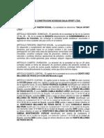Minuta de Constitucion Sociedad Dalia Sport Ltda