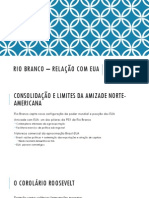 Rio Branco – Relação Com Eua