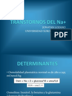 TRANSTORNOS DEL Na+