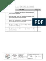 8 performance criteria