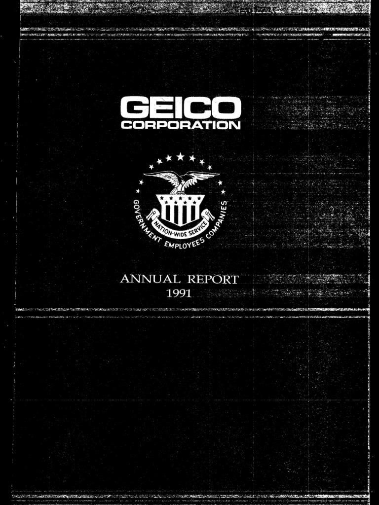 Geico 1991 annual report insurance stocks biocorpaavc Choice Image
