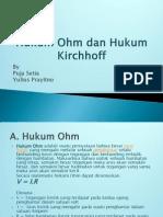 3. Hukum Ohm Dan Hukum Kirchhoff