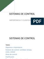 Tema 2 Importancia y Clasificacion de Los Sistemas de Control
