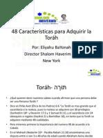 48 Caracteristicas de Torah