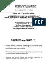 Optimización Sistema Placa-pilotes Caso Cosmos 100