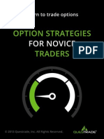 Option Strategies for Novice Traders