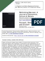 Foucault, Gobernamentalidad y Critica Lemke