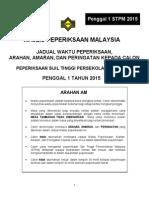jadual stpm 2015 penggal 1