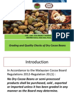 3. Grading and Quality Checks of Dry Cocoa Beans