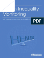 WHO - Health Inequality Monitoring