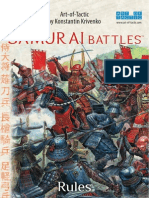 Samurai Battles Art of Tactics Rules Text