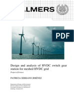Design and Analysis of HVDC Switch Gear Station for Meshed HVDC Grid