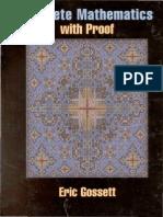 Eric Gossett Discrete Mathematics With Proof 2003