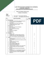 Chek List Tindakan Injeksi
