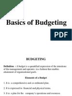 Basics of Budgeting Exhaustive