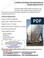 ASME Section VIII Div 2 for Design and Construction of Propane Spherical Tank