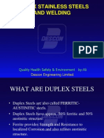 Duplex Stainless Steel Welding