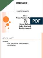 Tugas PPT Kalkulus Limit Fungsi