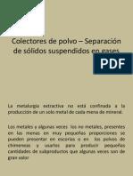 Colectores de Polvo – Separación de Sólidos Suspendidos