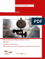 TI_GB5502-2008 Inspection of Grain and Oils - Determination of Processing Degree of Rice and Other Grain Kernels
