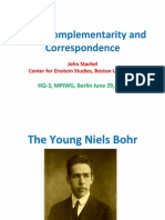 Bohr Complementarity and Correspondence - John Stachel