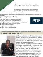 Gravenhurst Police Department Interview Questions