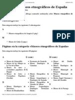 Categoría:Museos Etnográficos de España - Wikipedia, La Enciclopedia Libre