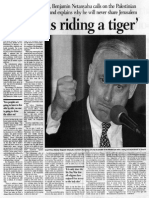 'Arafat is Riding a Tiger'