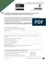 NSFAS Disability Annexures 102013DBAMRN1